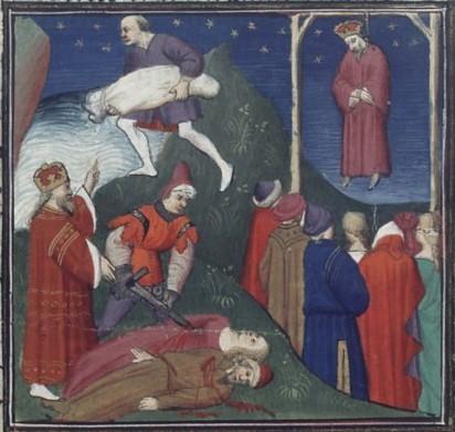 Правление Андроника Комнина. Миниатюра XV века. <br>